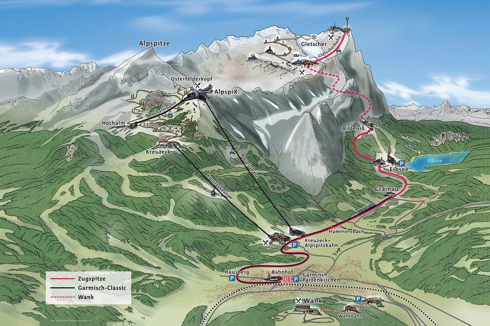 Zugspitz map