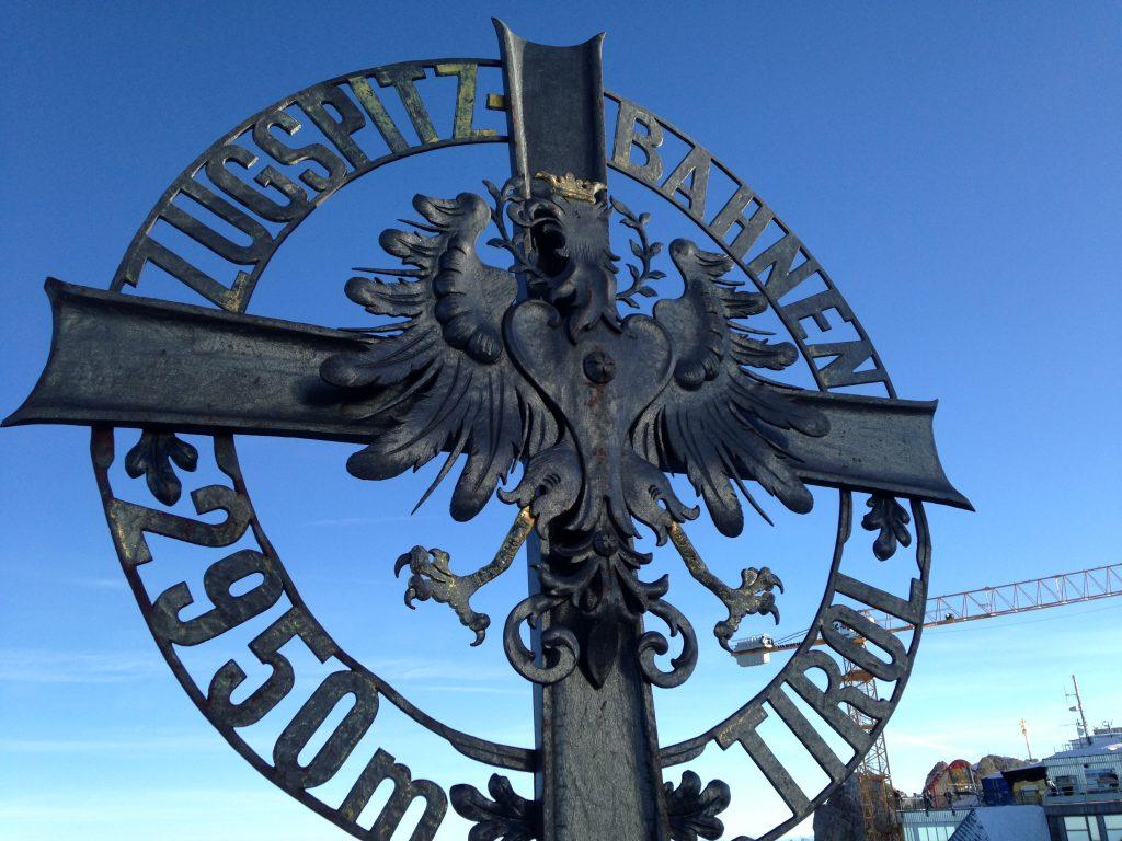 Zugspitze sign