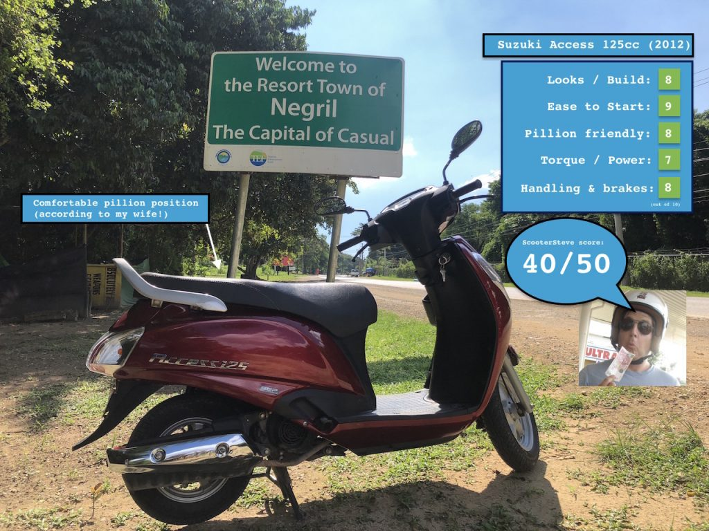 Suzuki Access 125 rating
